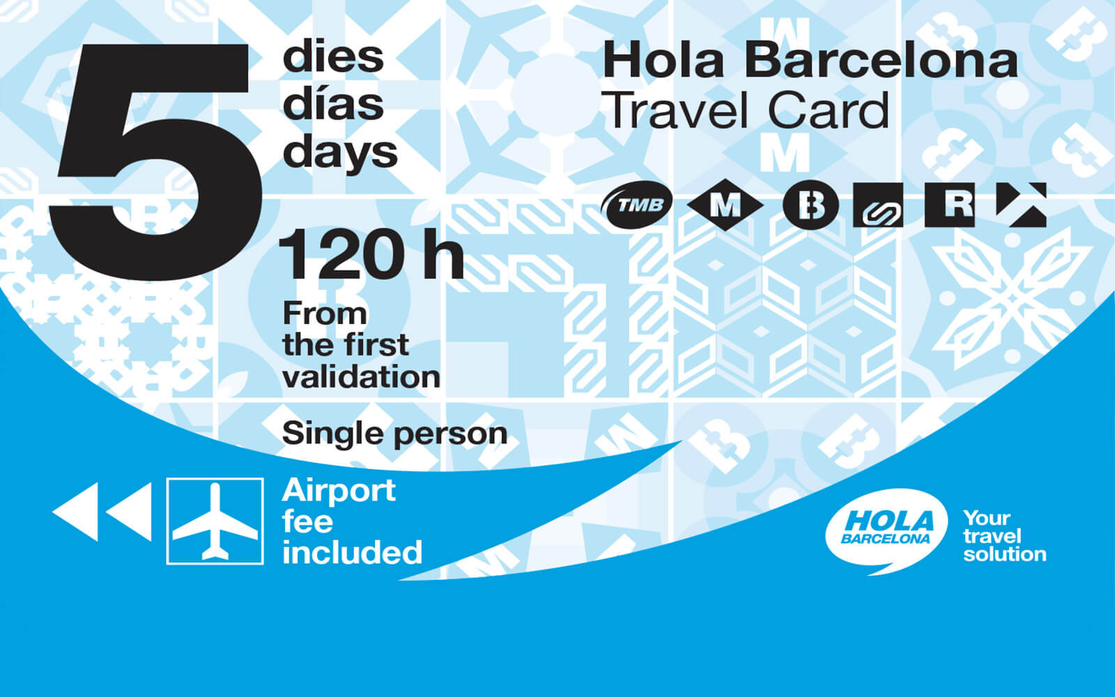 Hola Barcelona Travel Card nuova